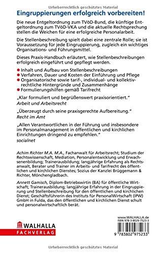stellenbeschreibung fr den ffentlichen und kirchlichen dienst 9783802975233 amazoncom books - Stellenbeschreibung Offentlicher Dienst Muster