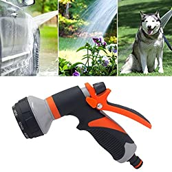 Garden Hose Nozzle Spray Nozzle, Cocal 8 Patterns Water Nozzle Head Hose Sprayer Garden Spray Auto Car Washing Home