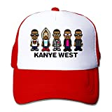 Hotgirl4 Kanye West Cap Hats Meshback Adjustable Cap 1 Size Red