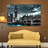 ArtWall Revolver Ocelot 'London' Gallery-Wrapped Canvas Artwork, 24 by 36-Inch