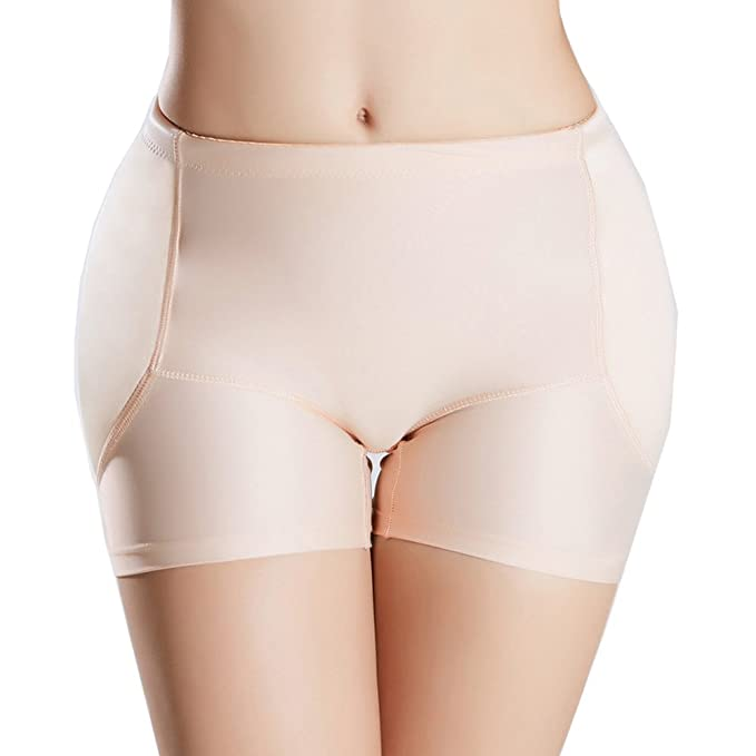 cfff19efd74 AICONL Womens Tummy Control Hip Enhancer Panty Underwear Pads Butt Lifter  Shaper Fake Butt (Beige
