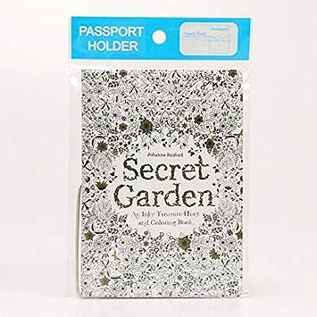 Cisco72 Cute Passport Cover Secret Garden Passport Cover Fashion Wallet Bag Travel Accessories Cute PU Leather ID Address Holder