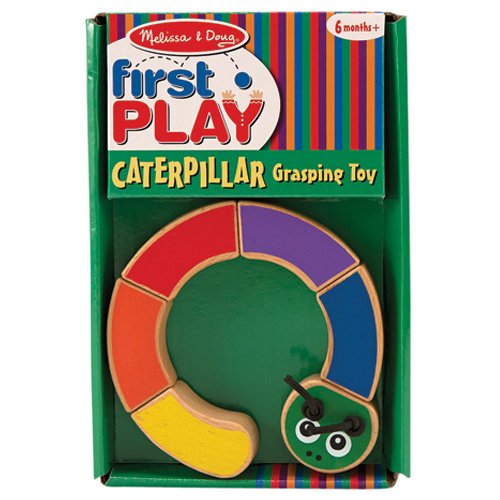 Melissa & Doug Caterpillar Wooden Grasping Toy for Baby