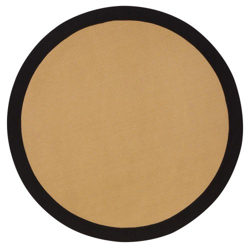 Cove Area Rug, 6' ROUND, BLACK BORDER