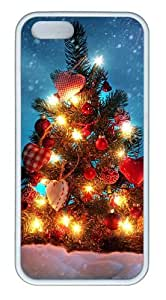 Christmas tree decorations TPU White underwater iphone 5S case for Apple iPhone 5/5S