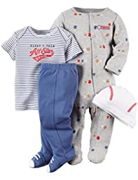 """Carter's Baby Boys' """"Daddy's All-Star"""" 4-Piece Layette Set"""