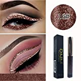 Valentine's Best Gifts for Women!!! Jumberri Colorful Makeup Glitter Sequins Liquid Eyeshadow Waterproof Long Lasting Shimmer Pearlescent Eyeliner Cosmetic