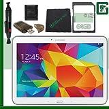 Samsung 16GB Galaxy Tab 4 Multi-Touch 10.1'' Wi-Fi Tablet (White) + 64GB SD Green's Camera Bundle
