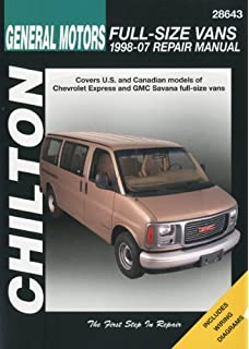 Chevrolet gmc full size vans 1996 2010 haynes repair manual chiltons general motors chevrolet express gmc savana full size vans 1998 07 repair fandeluxe Gallery