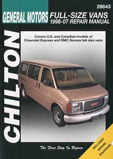 chevrolet gmc full size vans 1996 2010 haynes repair manual rh amazon com 1997 3500 10 Foot Chevy Van 1995 Chevy Gladiator Conversion Van Interior