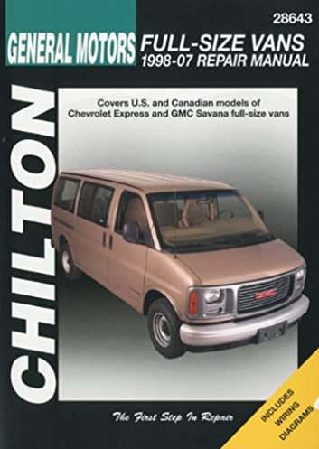 chilton s general motors chevrolet express gmc savana full size rh amazon com 1998 Chevrolet Joy 1998 Chevrolet Savana