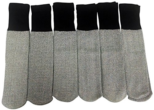 6 Pairs of excell Men's Thermal Diabetic Tube Socks, Size 10-13