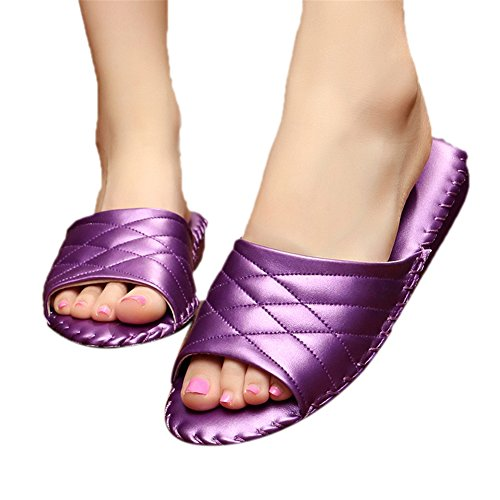 Purple pour Femme TELLW Women Chaussons IqSwxUnf1