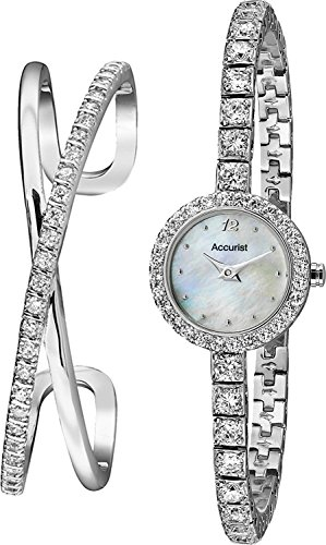 Ladies Accurist Bangle Gift Set Watch LB1800
