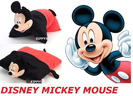 "Disney Mickey Mouse 18"" Cuddle Peluche Coussin Peluche Douce 40 cm 2 Fonctions en 1"