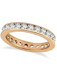 14k Gold Channel Set Diamond Eternity Ring Band