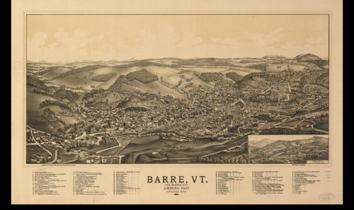 Historic Panoramic Maps of Vermont on CD - Historic Panoramic Map