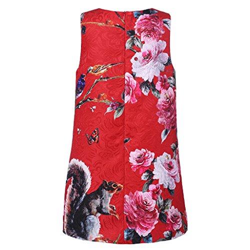WL-MONSOON Big Girls' Fixed Position Digital Print Dress Size US 12