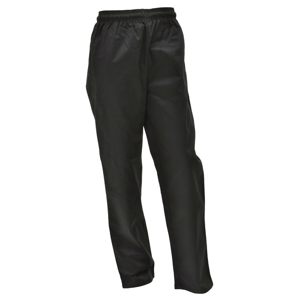 HUBERT Black Poly Cotton Chef Pants - Small