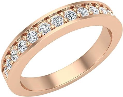 anillo oro rosa con diamantes finos