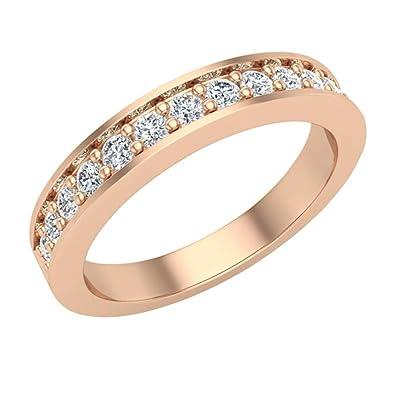 Amazon Com Wedding Band For Women Pave Set Diamonds 3 25 Mm Wide