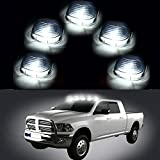 CCIYU 5 Pack Cab Roof Top White 6 LED Lights Smoke Lens Marker Running Lamps Truck RV 4X4