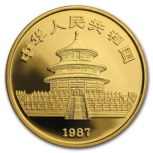1987 CN China 1 oz Gold Panda Proof (In Capsule) 1 OZ About Uncirculated