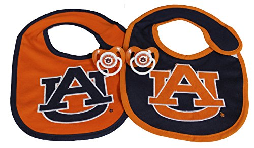 NCAA Auburn Tigers Infant Bib and Pacifier (Auburn Tigers Pacifier)
