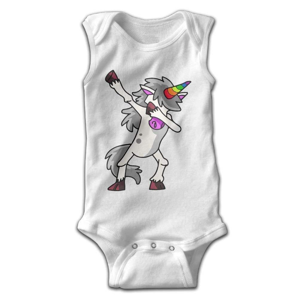 Dabbing Unicorn Infant Baby Sleeveless Bodysuit Romper