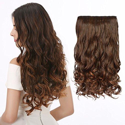 "CHLONG CNLONG 20"" Wave Curly Hair extension 3/4 Full Head Cl"