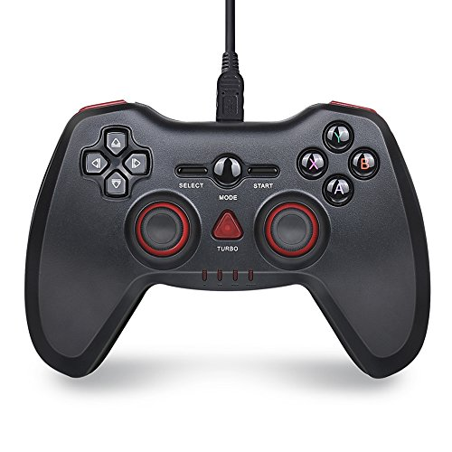 PC Game Controller, BEBONCOOL PS3 Controller, Wired Game Controller, PC Gamepad Joystick With Vibration Feedback For Windows PC / PlayStation 3 / Steam