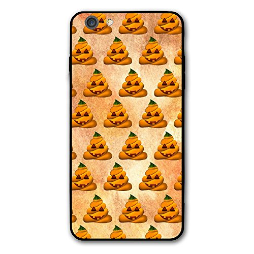 SRuhqu Funny Halloween Poop Emojis Shockproof Anti-Scratch Slim Fit Hybrid TPU PC Frame Soft Back Cover Protective IPhone 6 Plus Case ()