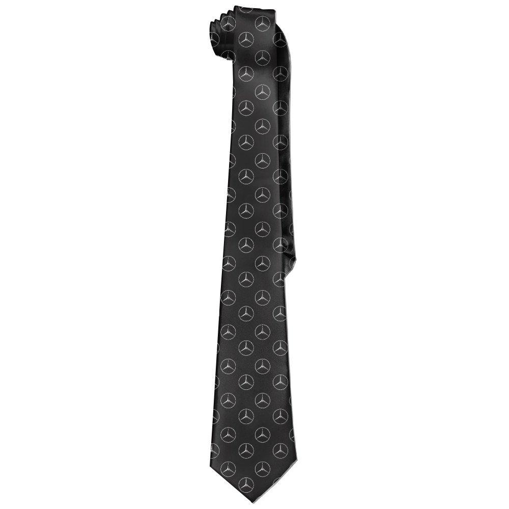 AoMooQ Mercedes AMG Logo Men's Skinny Tie Trendy Necktie Ties