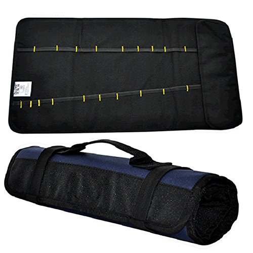 Repairing Tools Kit Roll Bag Plier Screwdriver 21pockets Car