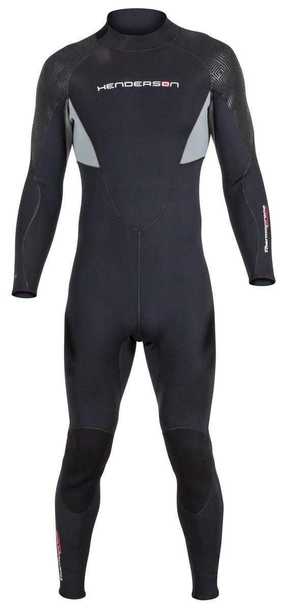 Men's Thermoprene Pro Wetsuit 5mm Back Zip Fullsuit Black
