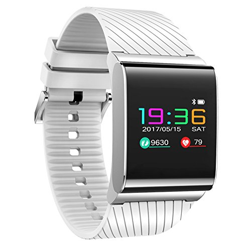 Price comparison product image Bluetooth Smartwatch, KKCITE Fitness Tracker Smart Band Bracelet with Heart Rate Blood Pressure Oxygen Monitor Pedometer, IP67 Waterproof Activity Tracker Wristband Watch for Andriod and IOS