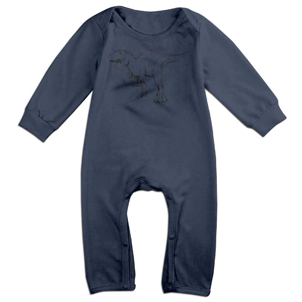 Newborn Baby Bodysuits Tyrannosaurus Tex Silhouette Baby Clothes