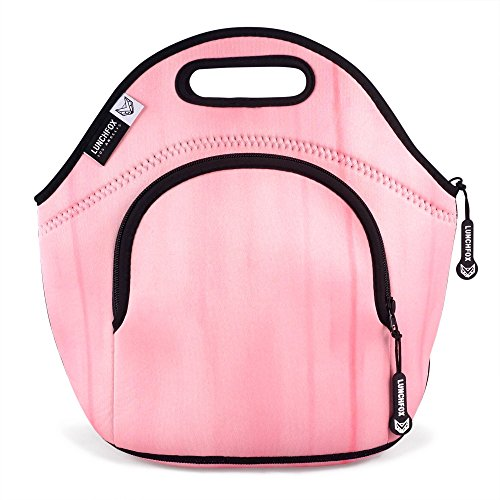 Eco Friendly Lunch Bags (LunchFox Blush Pink Eco-Friendly Neoprene Insulated Lunch Bag for Women & Teen Girls - The Norma Jean)