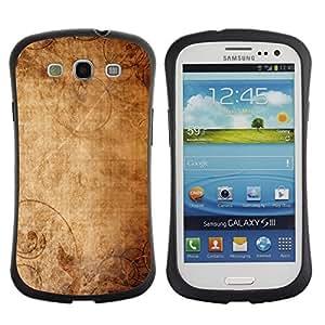 Suave TPU GEL Carcasa Funda Silicona Blando Estuche Caso de protección (para) Samsung Galaxy S3 I9300 / CECELL Phone case / / Wallpaper Ancient Old Paper Canvas Art /