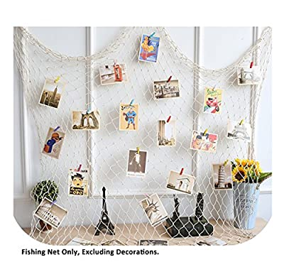 Mediterranean Decorative Nautical Fish Net - Anchor Sea Shells Home Party Decoration