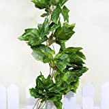 9.2Ft Artificial Hanging Leaves Grape Plants Garland Wedding Home Garden Decor Model:1Pc 9.2ft Ivy Vine