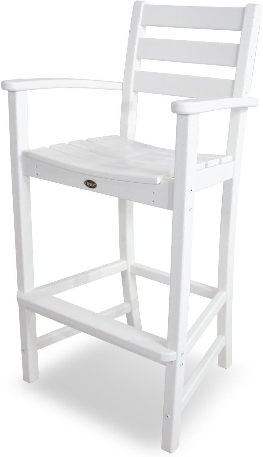 Trex Outdoor Furniture Monterey Bay Bar Classic White Arm Chair