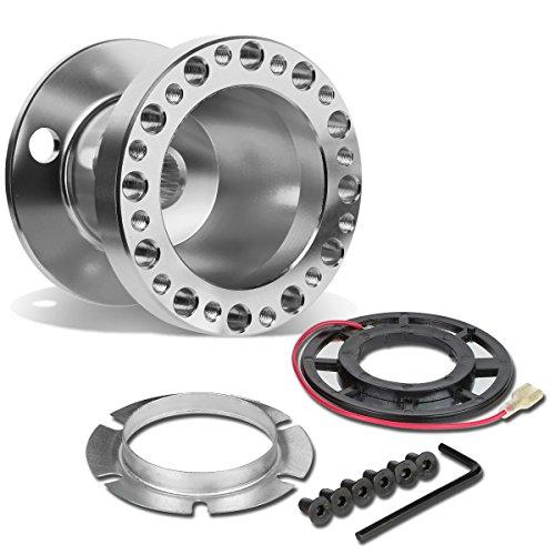 (DNA Motoring HUB-ALU-OR18-SL 6-Hole Steering Wheel Hub Adaptor)