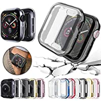 CHOUREN For Apple Watch 6 case screen protector 44mm 42mm 38 40mm iwatch series 6 se 5 4 3 2 1 plating TPU shell (Color…