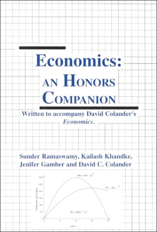 Honors Companion to accompany Economics