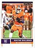 2017 Score #383 Wayne Gallman Clemson Tigers Rookie Football Card