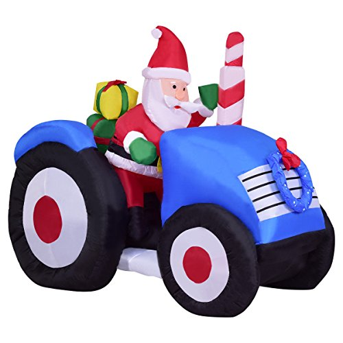 Inflatable Santa on Truck Christmas Holiday Decoration Setting Indoor Outdoor 6 Inch by Caraya