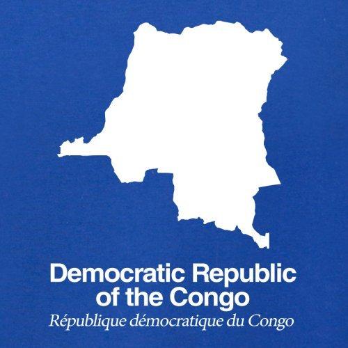 Democratic Republic of the Congo / Demokratische Republik Kongo Silhouette - Herren T-Shirt - Royalblau - S