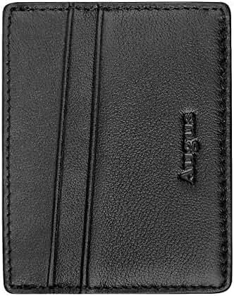 Leather Card Holder Ultra-Slim Front Pocket Wallet AUGUS Women Card Case /Men RFID Wallet