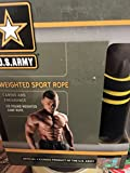 U.S. Army 1/2 pound Weighted Sport Jump Rope Officially Licensed Cardio Fitness Weight Loss Equipment